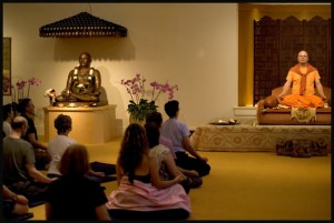 Swami Chetanananda in Open Eye Meditation