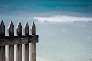White Picket Fence at the Ocean