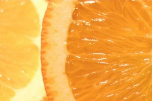 a juicy orange slice
